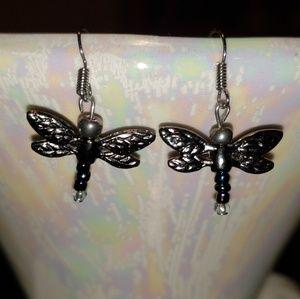 Handmade Dragonfly Earrings by GemaneeJewels